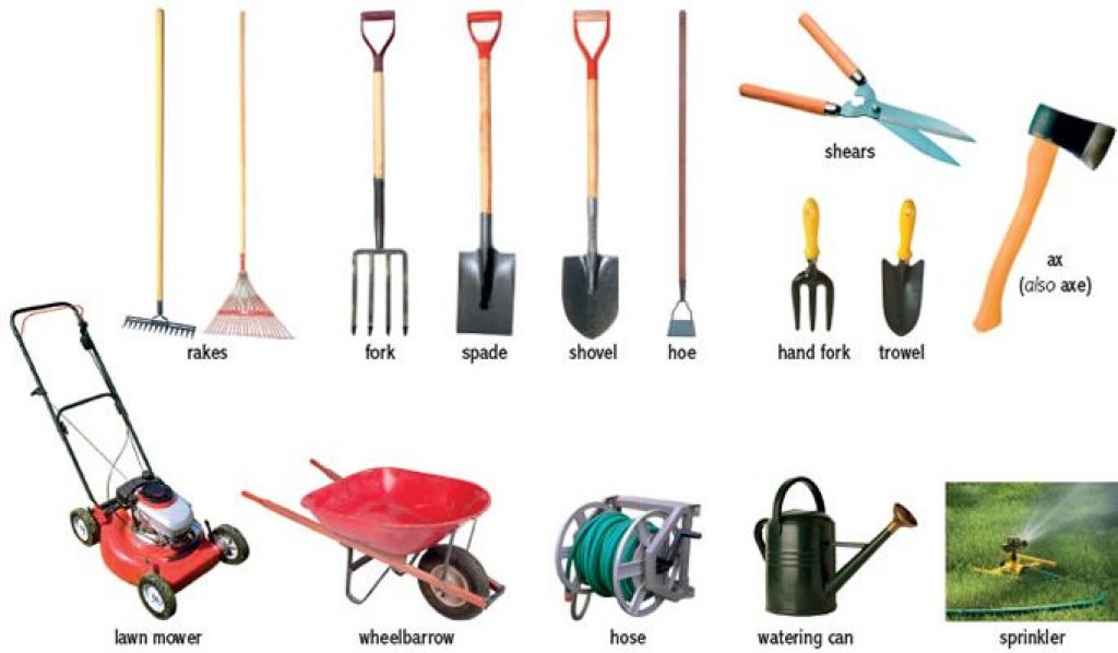 How to care for lawn and garden tools for Garden hand tools names